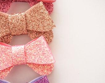 Baby hair clip , Baby hair accessories , Glitter hair bow , Kids hair accessories , Kids Hair clip , hair clip , hair bow , bow