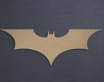 Batman Logo (Sleek), Wood Cutout, Unfinished Sign