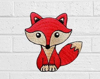 """Red Fox Patch - Animal Patch - Iron On Patches - Patches for Jackets, Jeans , Cap - Cool Badge Size 3"""" (W) x 3"""" (H)"""