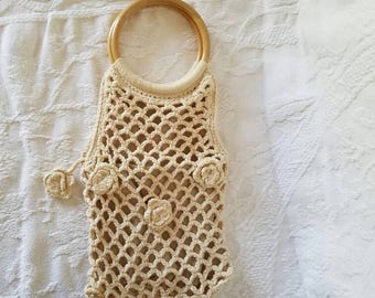 Vintage Macrame Purse / Macrame Handbag