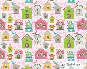 Flutter & Float, Tweet Tweet Pink, Ana Davis, Blend Fabrics, , Quilting Fabric, Cotton Fabric, Yardage