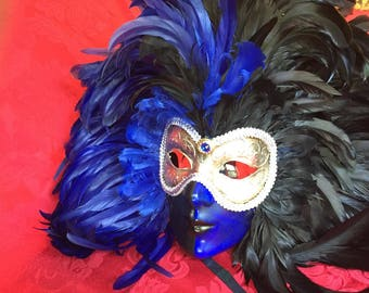 Two Italian Carnival Masks ~ Si Lucia Ladies and Gents