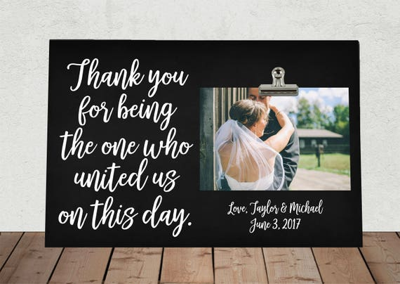 Wedding Officiant Gift Ideas: THANK YOU Gift For Wedding OFFICIANT Personalized Free Thank