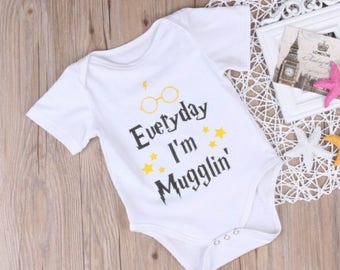 Harry Potter Onesie, Muggle Baby Onesie, Harry Potter Gear, baby clothes, baby boy baby girl onesie, Harry Potter baby clothes
