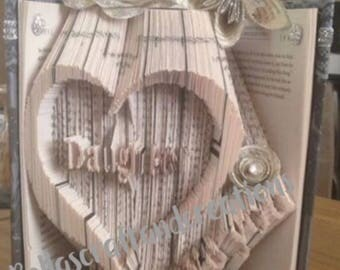 Daughter i love you book folding pattern