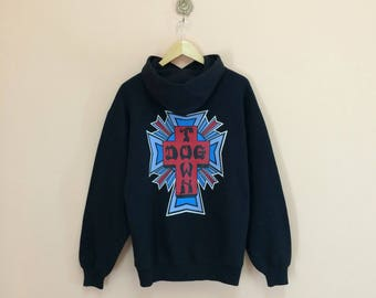 Vintage 90's Dog Town Hoodies Sweater Big Printed Spellout Nice Design // Dog Town