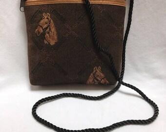 Horse Zippered Shoulder Bag