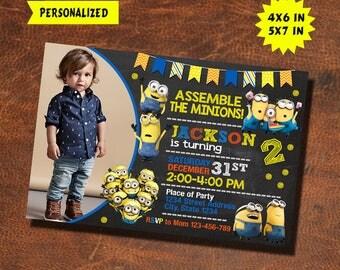 Minions Invitation / Minions Birthday / Minions Invite / Minions Party / Minions Birthday Invitation / Minions Party Invitation / Minions
