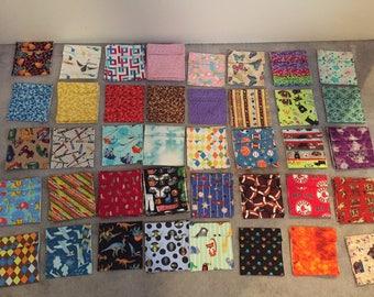 Reusable Food Bags, Set of (5) - You Pick the Fabrics