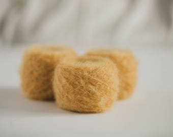 VINTAGE YARN - Wool + Mohair Blend - Made in Italy - Pack of three 40 g / 1.4 oz - Yarn Cakes - Mohair Fantasy Betty