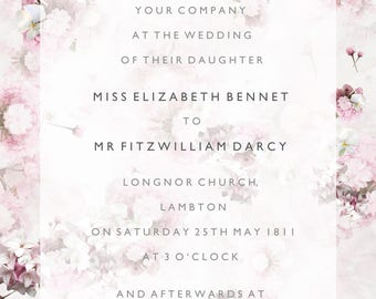 Briar Rose wedding invitation set
