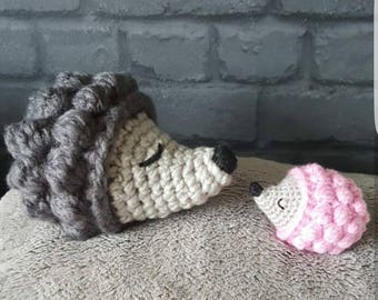 Soft crochet hedgehogs