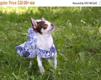 SAVE 50% teacup blue dog dress small dog clothes fancy dog dresses chihuahua dog clothes xxs wedding dog dress small dog dress pesley dress