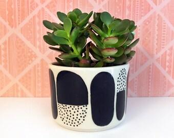 Rounded Dot Patterned Planter-medium