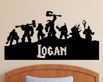 World of Warcraft   Personalized Vinyl Wall Decal