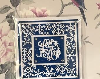 Handmade let it snow Christmas card