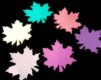 Die Cut Fall Maple Leaves-Cardstock- bulletin boards