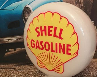 Gas Pump Globe Lamps,  Automobilia Interest Aluminium Bases also Now Available - Will Post Worldwide.