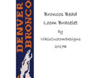 Broncos Bead Loom Bracelet Pattern by VikisCustomDesigns