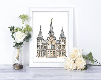 Provo City Center Temple Watercolor // Printables // LDS