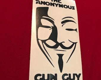 The Anonymous Gun Guy Vinyl Sticker