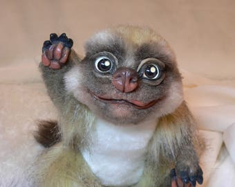 Meerkat(Suricata suricatta).Realistic soft toys. Soft sculpture. OOAK. Stuffed animals. Art doll.