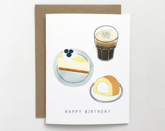 Dessert Birthday - Birthday Card