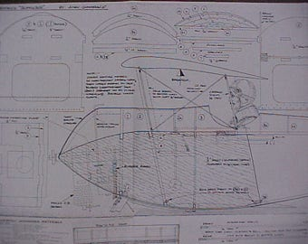 1914 Sopwith Schneider Float Plane Model Airplane Plan