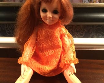 Vintage Crissy Doll With Growing Hair Ideal Toy Company 1968