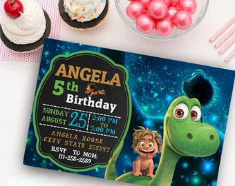 The Good dinosaur personalized digital invitation, good dinosaur invite, good dinosaur party, good dinosaur birthday, arlo invitation, kit