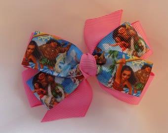Disney's Moana Hair Bow - Girl's hair bow, Bow hair clips, Head bows for girls, Toddler girls hair barrettes, Hair bows for girl, Hair bow
