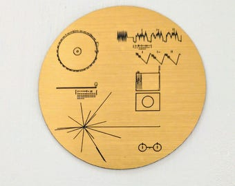 NASA Voyager Golden Record magnet, laser engraved. 40th Anniversary of Voyager launch