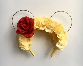 Enchanted Rose Floral Headband