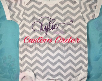 Custom Baby Bodysuit // Personalized Baby Gift -- Newborn