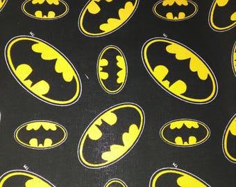 DC Comics Batman Fabric, Black and Bright Yellow, 100% Cotton