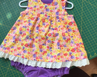 Baby girl's two o piece outfit.