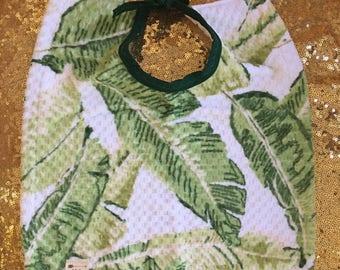 Gender Neutral Green Fern Wash&Wear Bibs by Bobbie