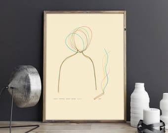 Minimalist Art Line Drawing Abstract Picture Prints Wall Instant