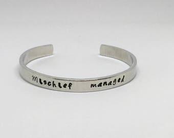 Mischief Managed - Cuff Bracelet