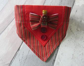 Marvel Iron Man Mini Figure Tuxedo Dog Bandana, dog accessories, slip on bandana, pet accessories, detachable bandana, collar accessory