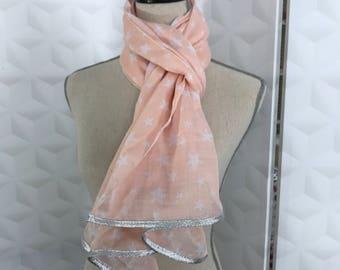 Nude pink gauze scarf