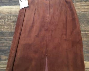 Vintage suede skirt