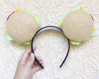 Custom Burger Mickey Ears - Made to Order