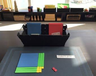 Visualizing Algebra Lot of Tiles for students Montessori