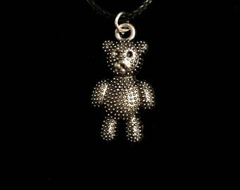 Teddy Bear Necklace - By Hyperkitty Designs
