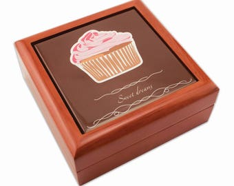 """Keepsake Boxes for Sublimation- 5.375"""" Square Brown"""
