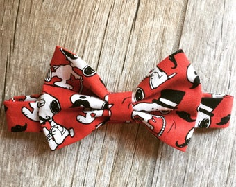 Snoopy Mustache Baby/Child Bow Tie