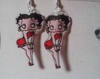 """Betty Boop"" earrings varnished"