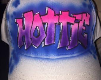 Hottie airbrushed cap
