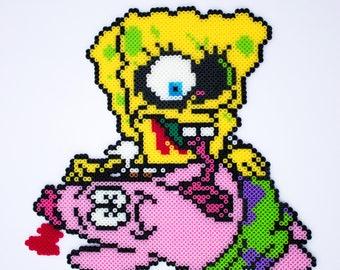 Zombie Spongebob Squarepants and Patrick (the victim)